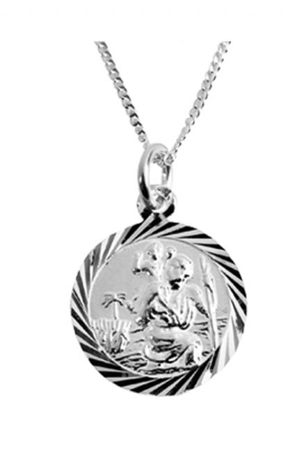 Sterling Silver St Christopher Pendant (5)